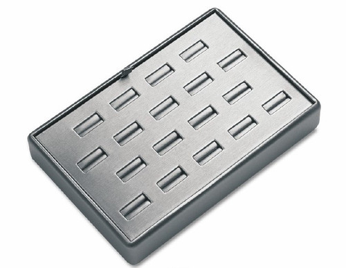 18 Slot Leatherette Tray