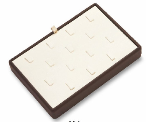 14 Clip Ring Leatherette Tray