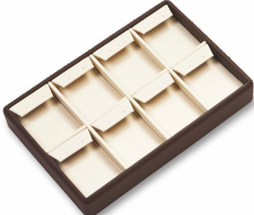 8 Earrings Leatherette Tray