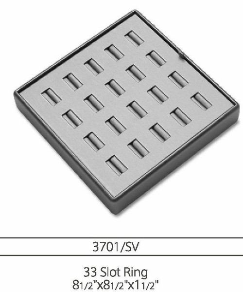 33 Slot  leatherette Ring Tray