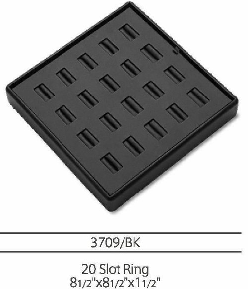 20  Slot Ring Leatherette Tray