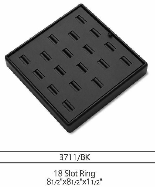 18  Slot Ring Leatherette Tray