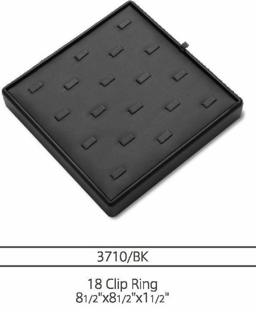 18 Ring Clip Leatherette Ring Tray