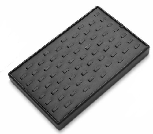 65 Clip Leatherette Ring Tray