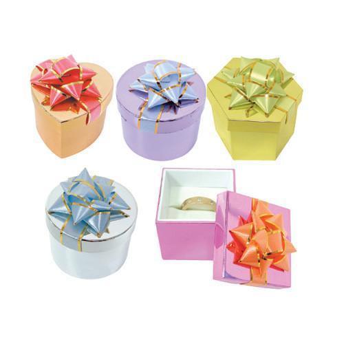 Shiny Metallic Hat Ring Box