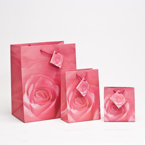 Rose Spot Coating Paper Tote Bags