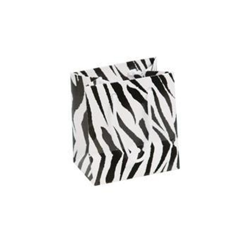Zebra Print Paper Tote Bags