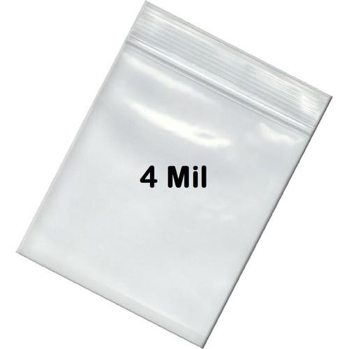 4 Mil Zip Lock Bags Plain