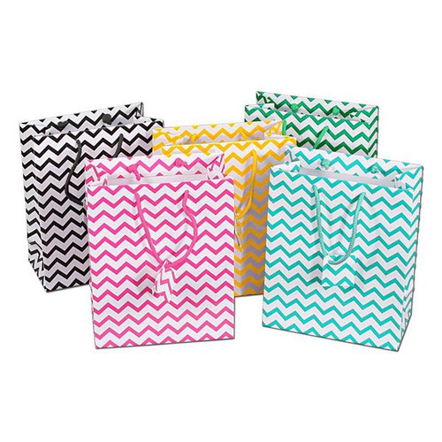Mixed Chevron Pattern Tote Bags
