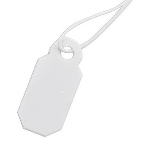 Paper String Tags - White