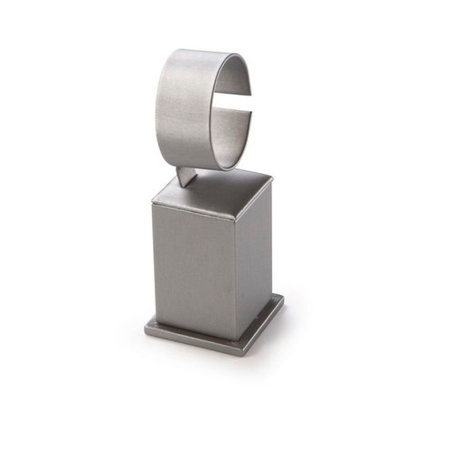 "Tall  Watch Stand Leatherette Display 2 1/2"" x  2 1/2"" x 6 1/2"""