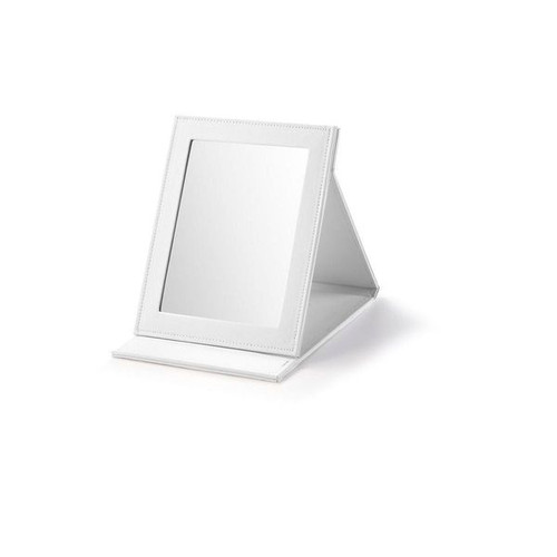 """Small Rectangle Fold-able Mirror Leatherette 7 x 3/4"""" x 9"""""""