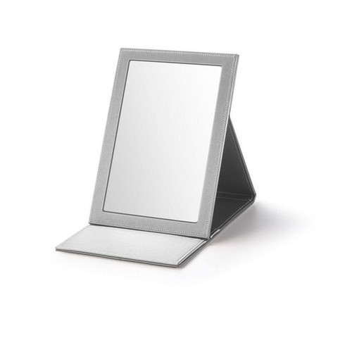 "Large Rectangle Fold-able Mirror Leatherette 8 1/4 x 3/4"" x 11 3/4"""""