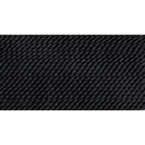 Black Silk Bead Cord # 0
