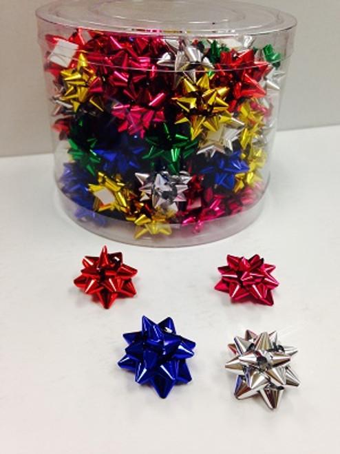 Star Bows  Small Mix Foil Metallic ( 100 Pcs.)