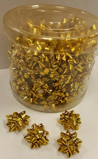 Star Bows Gold Small Foil Metallic ( 100 Pcs.)