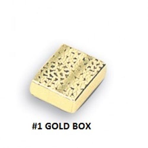 #1 Gold Cotton Filled Box 2-1/8''W x 1-5/8''D x 3/4''H (100 pcs.)