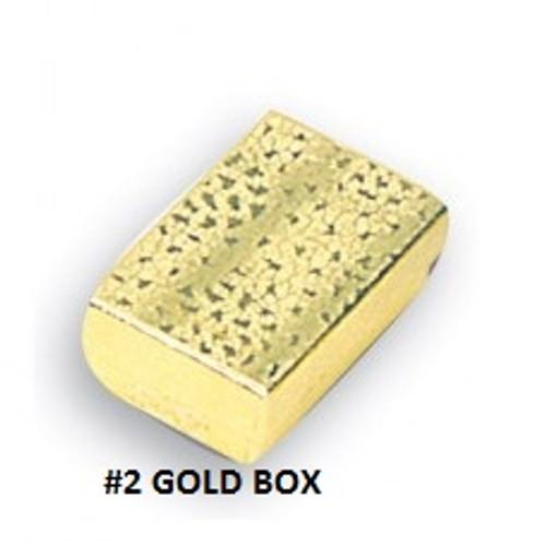 #2 Gold Cotton Filled Box 2-5/8''W x 1-1/2''D x 1''H (100 pcs.)