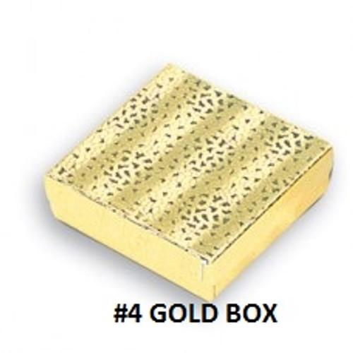 #4 Gold Cotton Filled Box 3-1/2''W x 3-1/2''D x 1''H (100 pcs.)