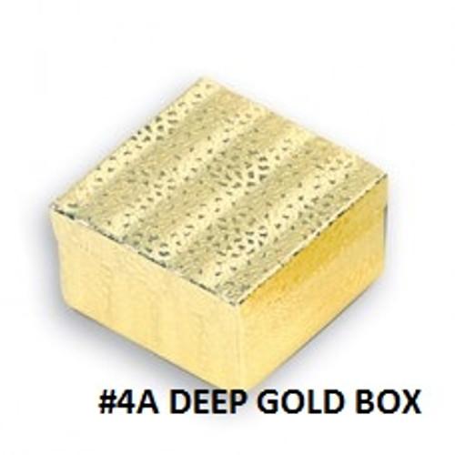#4A Gold Cotton Filled Box 3-3/4''W x 3-3/4''D x 2''H(100 pcs.)