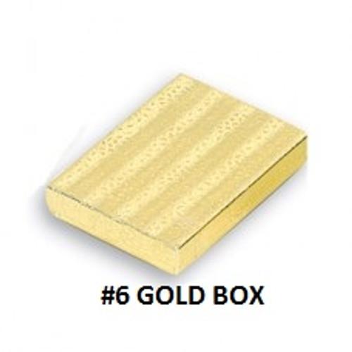 #6 Gold Cotton Filled Boxe 5-3/8''W x 3-7/8''D x 1''H (100 pcs.)