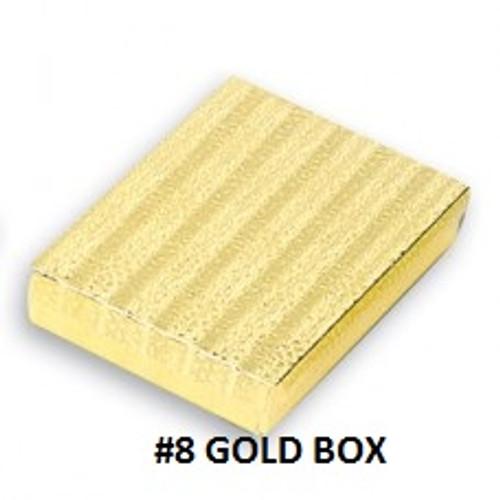 #8 Gold Cotton Filled Box 7-1/8''W x 5-1/8''D x 1-1/8''H (100 pcs.)