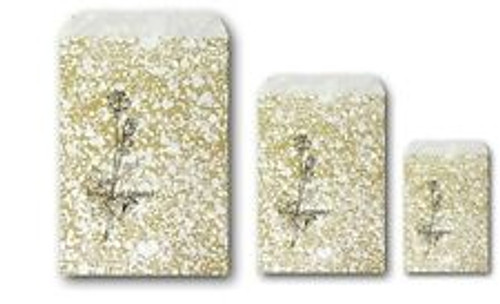 5X7 Gold Tone Paper Bags -100/pk