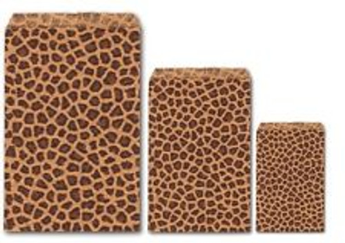 6X9 Leopard Tone Paper Bags-100/pk