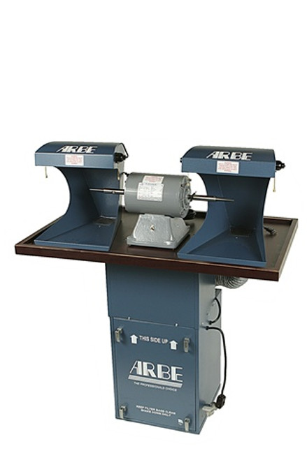 Sit Down Floor Model Polishing System w/ 1/2H.P Dust Collector, 1/2H.P. Double Spindle Polishing Motor and 2 Hoods Model# MMD-948