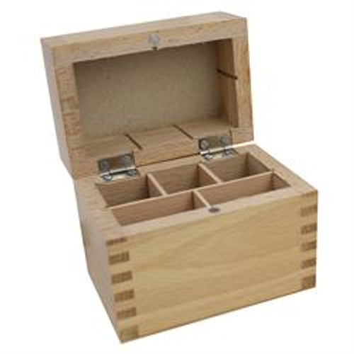 Wooden Storage Box 5 Compartments for Gold Testing Acid and Stone Test Kit(Box Only)