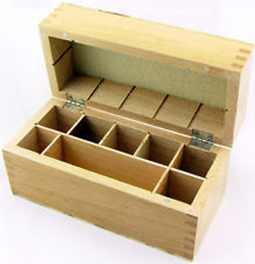 Wooden Storage Box 7 Compartments for Gold Testing Acid and Stone Test Kit(Box Only)