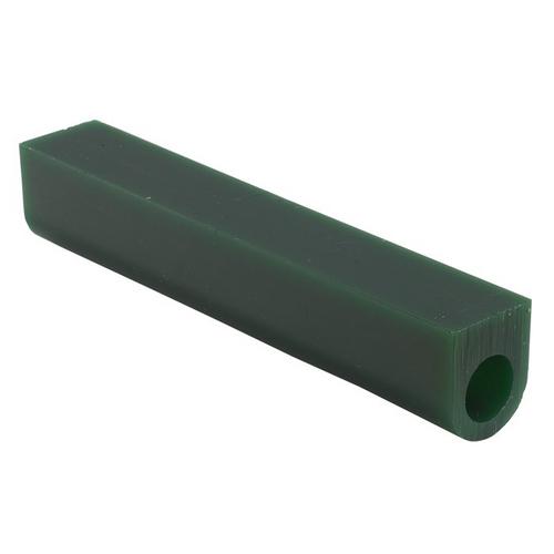 Matt Wax Ring Tubes 1-1/8H X 1W Flat Top With Hole Green