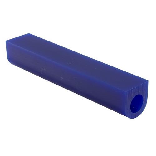 Matt Wax Ring Tubes 1-1/4H X 1-1/4W Flat Top With Hole Blue