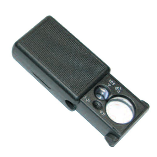 Portable 60x 30x Magnifier With LED and UV Light
