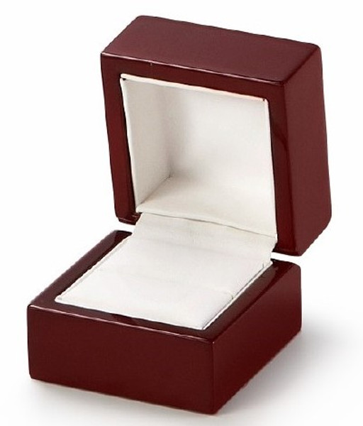 Ring Wood Box Cherry Red Finished
