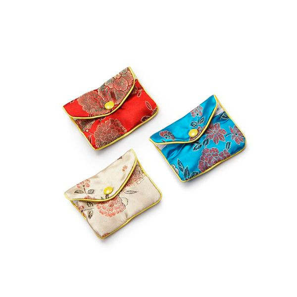Zipper  Pouches   Assorted Silk Colors