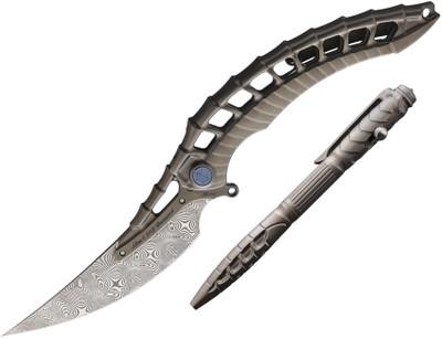 Rike Knife Alien4 Damasteel Combo