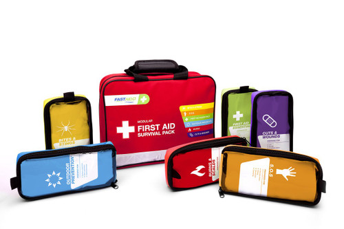 FastAid E-Series Modular Survival Pack First Aid Kit, Soft Pack