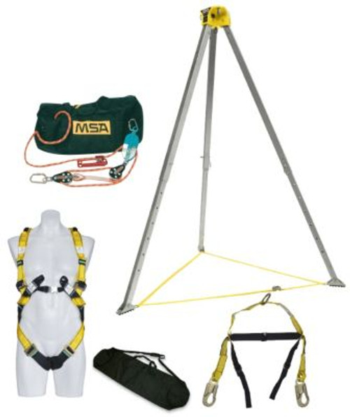 MSA Confined Space Entry Kits With 15 Meter 4:1 Rescue Safe Retrieval System