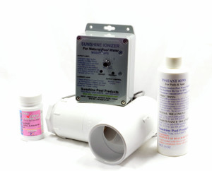 Standard Pool Sunshine Ionizer Model SPSWS with electrodes containing silver Treats 25,000 Gallons