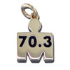 M-Dot 70.3 Pendant #3 14kt Yellow Gold - SPECIAL ORDER (see Description)