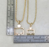M-Dot Outline Pendant #2 14kt Yellow Gold - SPECIAL ORDER (see Description)