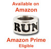 Sterling Silver RUN Endurance Bead available on Amazon