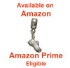 Running Shoe Mini Charm for Bead Bracelet available on Amazon