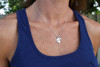 Classic Wing and Race Necklace on Model