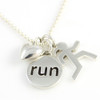 Sporty Gal Loves to Run Charm Combo on Bead Chain