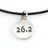 Leather 26.2 charm necklace