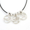 Modern Triathlete 3-Charm Necklace