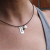26.2 Shamrock Power Charm Necklace on Model