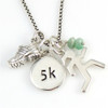 5k Necklace with Birth Gem Stone and other charms